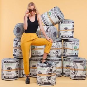 Pouf dollar - Zendart Design