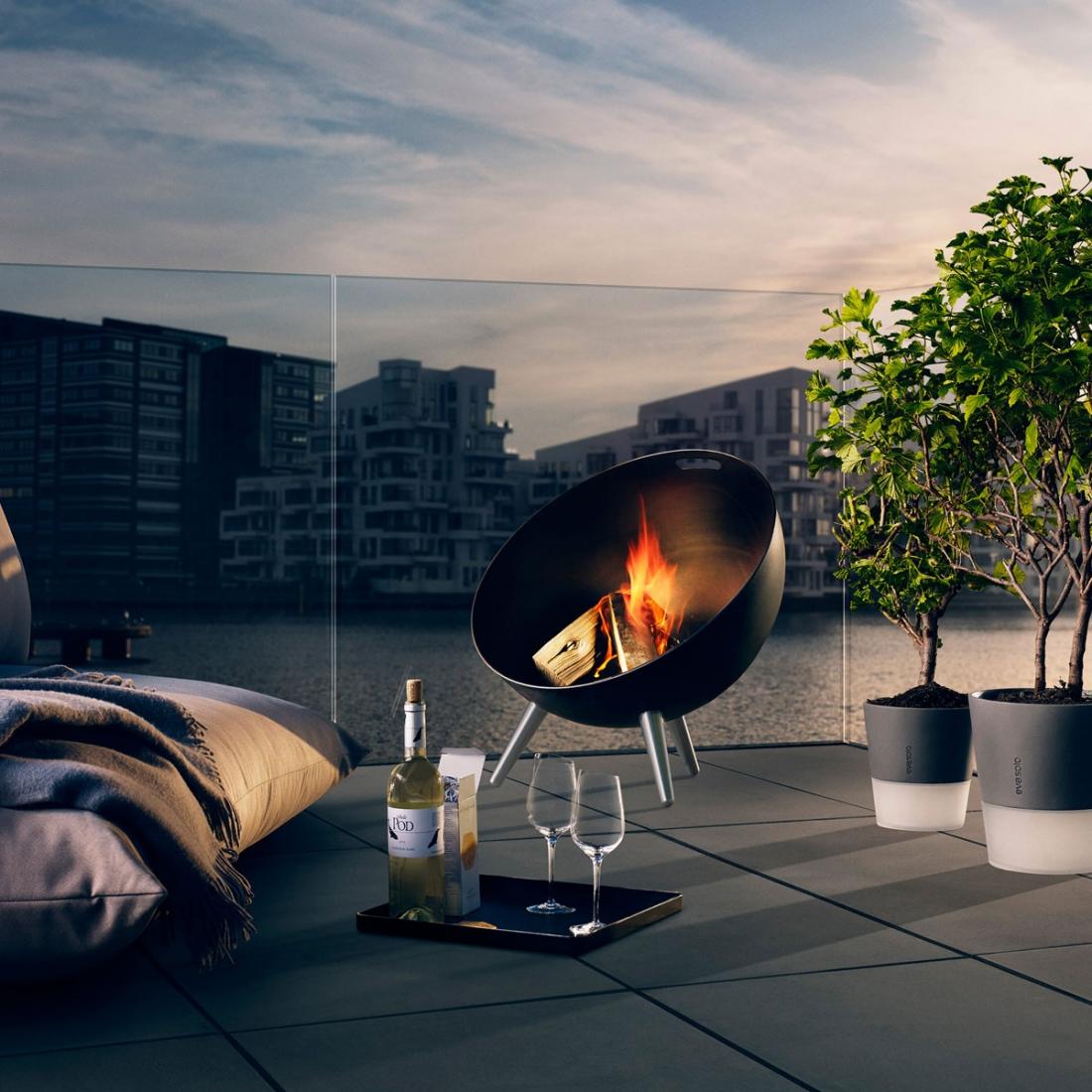 Cuisine exterieure s lection d accessoires design deco for Brasero de jardin