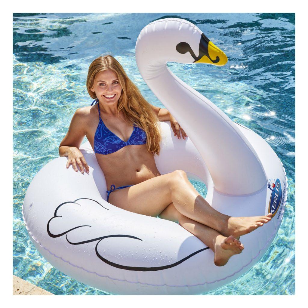 Accessoires de piscine : Bouée cygne Kerlis