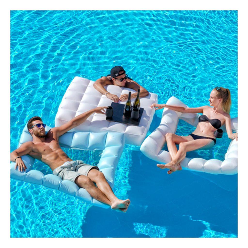 Accessoires de piscine : Hamac de piscine 1 place Pigro Felice