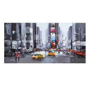 Tableau abstrait Time Square Lacorne Décoration - Zendart Design