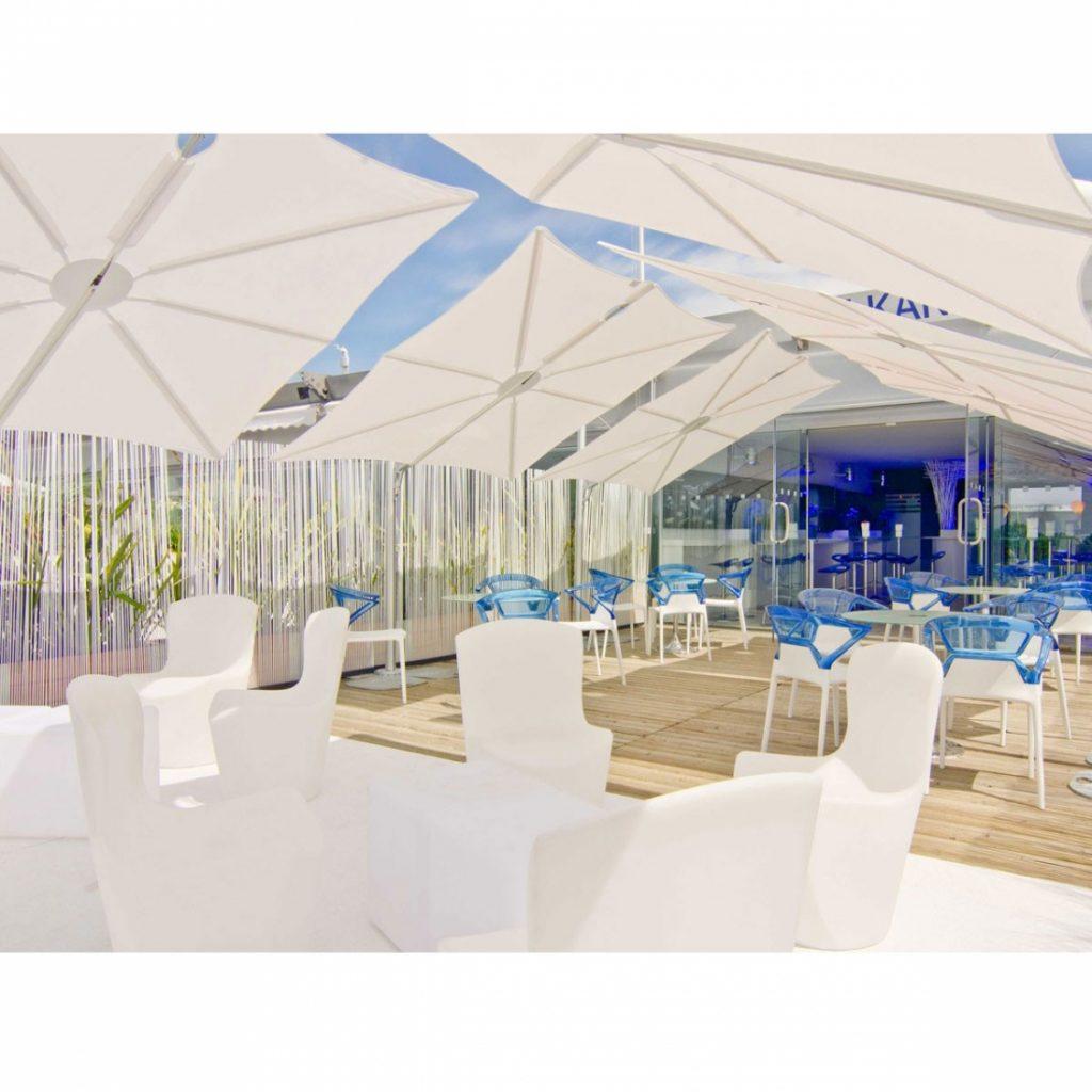 Parasol déporté design Spectra Square Straight UMBROSA - Zendart Design