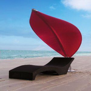 Indispensablesde l'été parasol design de transat Rilbou Lotus Umbrosa - Zendart Design
