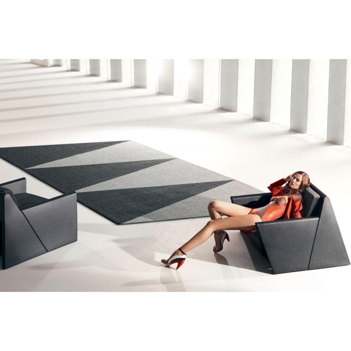 Tapis contemporain design interieur exterieur overlap for Tapis contemporain design