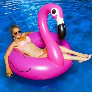Jeux de piscine bouée gonflable flamant rose KERLIS - Zendart Design