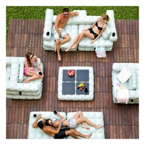Mobilier et jeux de piscine canapé gonflable PIGRO FELICE - Zendart Design