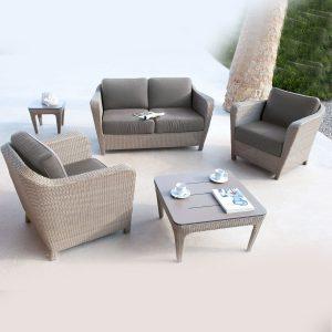 Indispensables de l'été ensemble d'extérieur Briton Wicker tresse Sel Les Jardins - Zendart Design