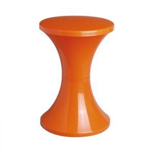 Tabouret tam tam orange Stamp - Zendart Design