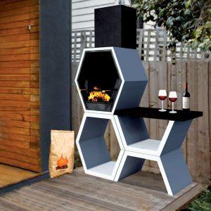 Tendance déco futuriste - Barbecue contemporain Mod 03 Blive - Zendart Design