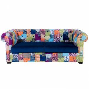 Tendance déco vintage - Canapé patchwork design Chester ALC - Zendart Design