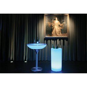 Seau à champagne LED RGB Cooler outdoor avec batterie MOREE