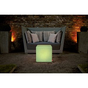 Table basse Cube Granite LED RGB extérieur MOREE