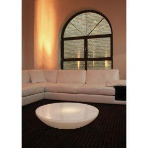 Tendance déco futuriste - Table laqué blanc Variation Indoor Moree - Zendart Design