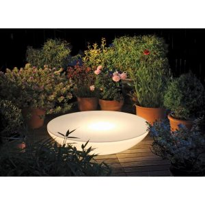 Table laqué blanc exterieur basse lounge Variation outdoor MOREE